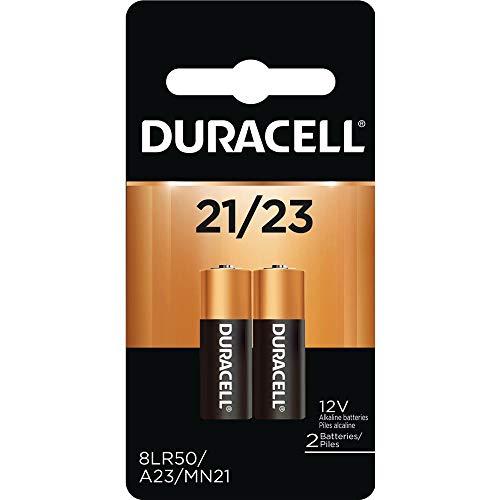 Duracell 12 Volt Alkaline Alarm Remote Battery MN21 / A23 2 Pack