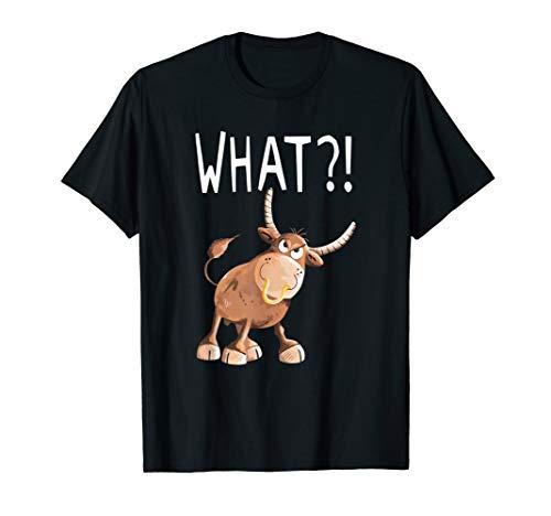 What?! Stier T Shirt I Bulle Ochse Kuhmotiv Tiere Funshirt