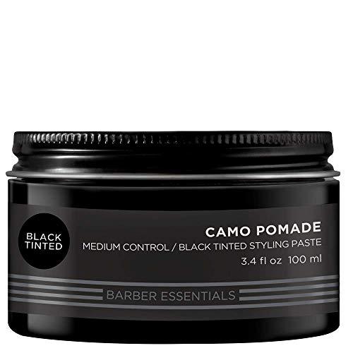 REDKEN Brews Camo Pomade, Stylingcreme mit schwarzen Farbpigmenten zur Abdeckung von weißem Haar, 100 ml