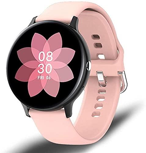 Reloj inteligente de los hombres reproductor de música ritmo cardíaco llamada bluetooth impermeable deportes reloj inteligente para Android 1OS-G rosa