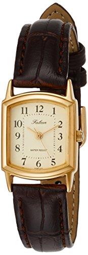 [シチズン Q&Q] 腕時計 アナログ 防水 革ベルト QA69-103 レディース ゴールド