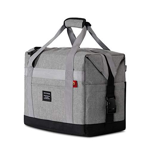 Kühltasche Groß Faltbar Thermotasche für Die Arbeit Männer Frauen Lunch Taschen Picknicktasche Isoliertasche Bierkühler Camping Reise Barbecue Milch Frühstücken Getränke Verstellbarer Schultergurt