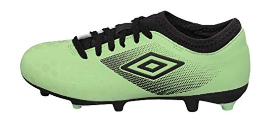 UMBRO Unisex Child UX Accuro Ii Club Fg Junior Soccer Shoe, Green, 4 Little Kid US