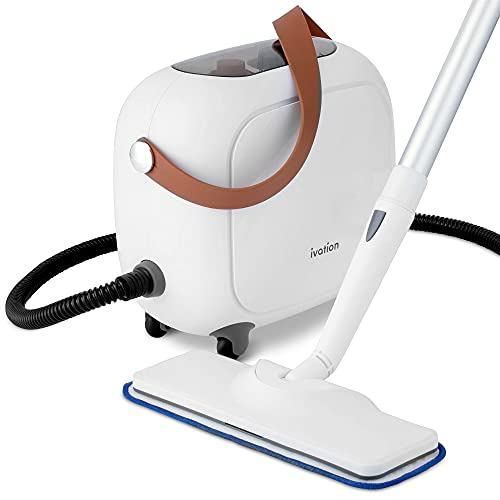 Ivation All in One Household Steam Cleaner with 17 Accessories, Multi-Purpose Chemical-Free Cleaning and Sanitizing System for Floor, Bed Bugs, Clothes, Ovens, Curtains and Carpet
