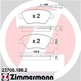 Zimmermann 23706.180.2 Serie Pastiglie Freno, Anteriore, 8 Molle, 2 Sensori, 4 Piastre Antivibrazione, Incluse Accessori