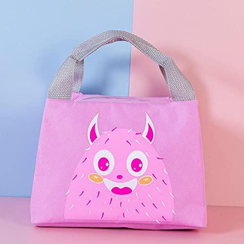 Bolsa de almuerzo con cremallera para niños, dibujos animados, rana, monstruo, oso, impresión, aislamiento térmico, bolsa térmica, botella de leche, bolsa de aislamiento, oso 01