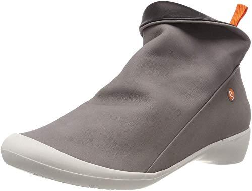 Softinos Damen Farah Stiefeletten, Grau (Grey/Offwhite 571), 41 EU