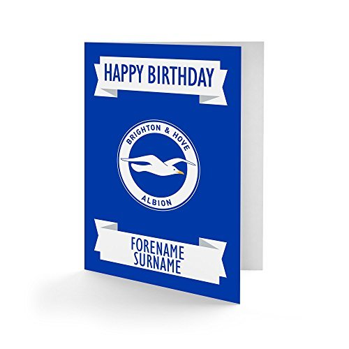 Official Personalised Brighton & Hove Albion FC Crest Birthday Card