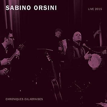 Chroniques calabraises (Live 2015)