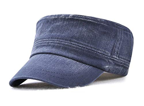 FOOKREN Hombre Béisbol Gorra Militares Senderismo Running Ajustable Sol Sombreros (Azul)