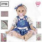 ZIYIUI Lifelike 22 inch 55 cm Reborn Babypuppe Mädchen Lebensechte Newborn Soft Silikon Spielzeug...