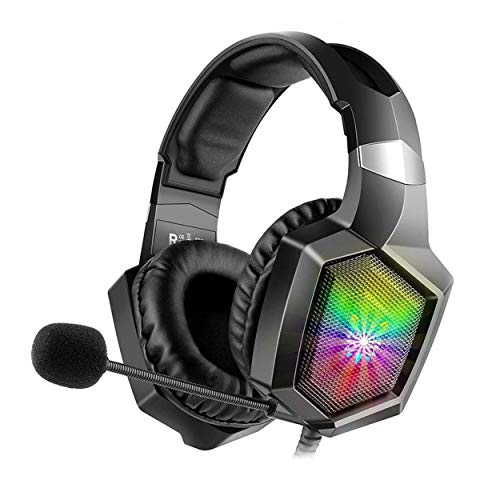 Pro Gaming Headphone with Microphone for Xbox one, PC, PS4 with HD Stereo Surround Sound, Dynamic Bass, Noise Cancelling, RGB LED Light, Gaming Headset by VibroZ