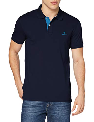 GANT Contrast Collar Pique SS Rugger Camisa de Polo para Hombre