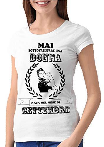 Fashwork - Camiseta de cumpleaños «Nunca subestimes a una mujer nacida en...