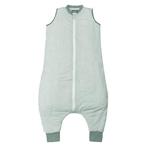 molis&co. 1.0 TOG. Baby-Schlafsack mit Füßen. Größe: 90 cm. Ideal für Übergang. 100% bilogischem Baumwolle (GOTS). Vichy Green