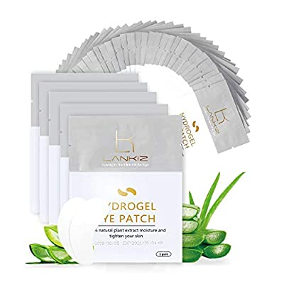 LANKIZ-Under-Eye-Pads for Lash Extensions, 100 Pairs Lint Free Eyelash Pads Eyelash Patches Under Eye Gel Pads