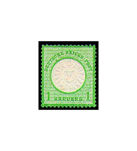 Goldhahn Deutsches Reich Nr. 23 ungestempelt Großer Brustschild-1 Kr. Briefmarken für Sammler