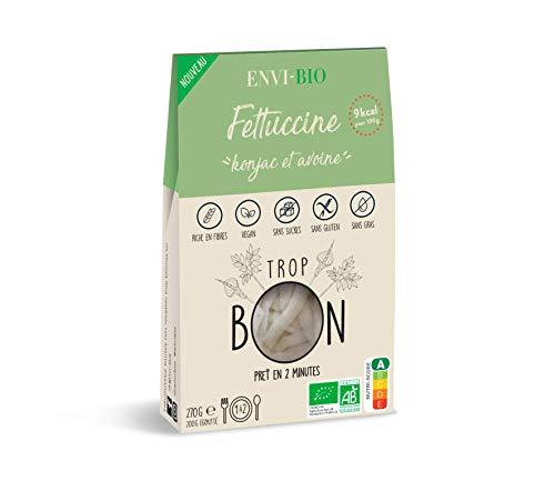 FETTUCCINE Konjac et Avoine BIO - ENVI-BIO - Box de 6 paquets x 270g …