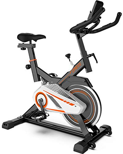 UREVO Indoor Cycling Bike, Indoor Exercise Bike Stationary Bike for Home Cardio Workout Bike with Comfortable Seat Cushion ,Floor Mat & Phone Holder