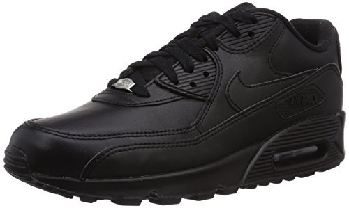 Nike Air Max 90 Leather Men's Shoes Black/Black 302519-001 (8.5 D(M) US)