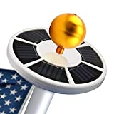 FORUP 26 LED Solar Flag Pole Light, Solar Flagpole Downlight for Most 15 to 25 Ft Flag Pole (White)