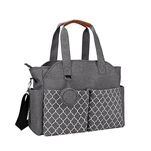 Ligege Bolsas para el cambio de pañales, bolsa para pañales, multifuncional, porta pañales, portaobjetos, porta pañales, portátil, con compartimentos para picnics de viaje