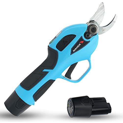 KOHAM Cordless Electric Pruning Shears with Intelligent LED Screen,...