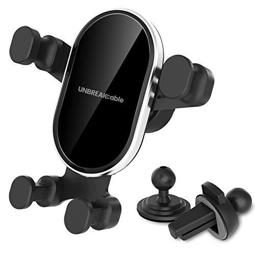 UNBREAKcable Porta Cellulare da Auto 360 Gradi di Rotazione, Universale Supporto Cellulare Auto per iPhone 12/12 PRO/SE 2020/11/11 PRO/8, Samsung A51, Huawei P30 Lite e Altri telefoni da 4.7-6.5''