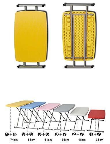 CHenXy Tragbarer Klapptisch - quadratischer Tisch - Schreibtisch Computertisch Lerntisch für hebende Werkbank - Ultraleicht Beistelltisch (Color : Pink)