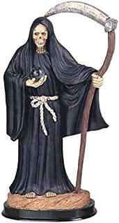 12 Inch Black Santa Muerte Saint Death Grim Reaper Statue Figurine