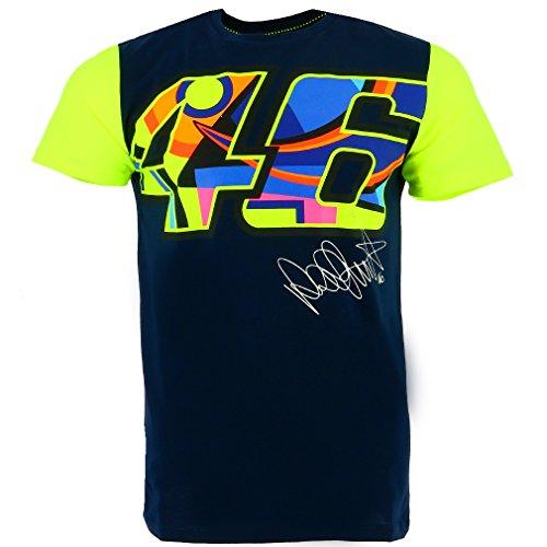 Valentino Rossi VR46 Moto GP Grande 46 Signature azul Camiseta ...