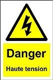 Signal de Danger Haute Tension - 1.2mm Plastique 200mm x 300mm