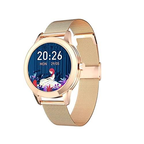 XYZK Reloj inteligente para mujer con monitor de presión arterial y frecuencia cardíaca, rastreador de actividad física para mujer, monitor de menstruación, reloj inteligente para Android iOS, A (C)