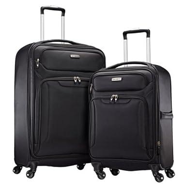 Samsonite Ultralite Extreme 2 Piece Softside Spinner 4 Wheel Luggage Set (Black)
