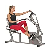 Sunny Health & Fitness Cross Trainer Magnetic Recumbent Bike with Arm Exercisers - SF-RB4936