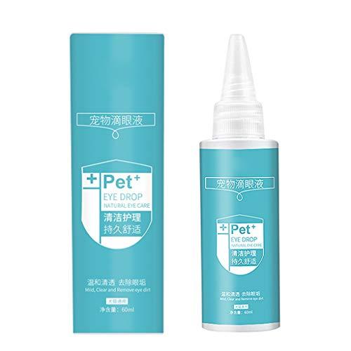 Shefii 1 Flasche 60 ml Haustier Augentropfen Hunde Katzen Augen Tränen Flecken Entferner Schmutz beseitigen Pflege