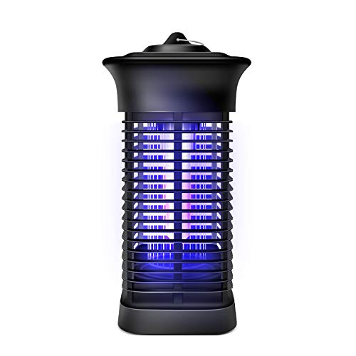 HUNTINGOOD Bug Zapper, Outdoor Mosquito Killer with 3500v Instant Killing Voltage,XP4 Waterproof for Your Patio,Portable Standing or Hanging for Indoor and Outdoor