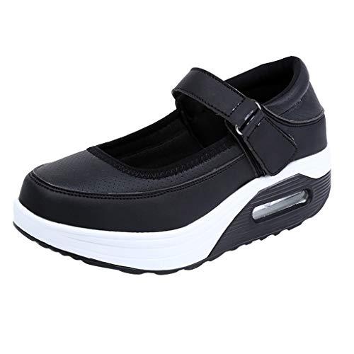 Cardith Damen Fitness Leder Schuhe Mode Lässig Feste Atmungs Shake Schuhe Sport