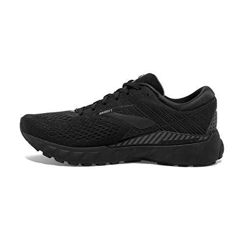 Brooks Womens Adrenaline GTS 19 Running Shoe - Black/Ebony - B - 8.0