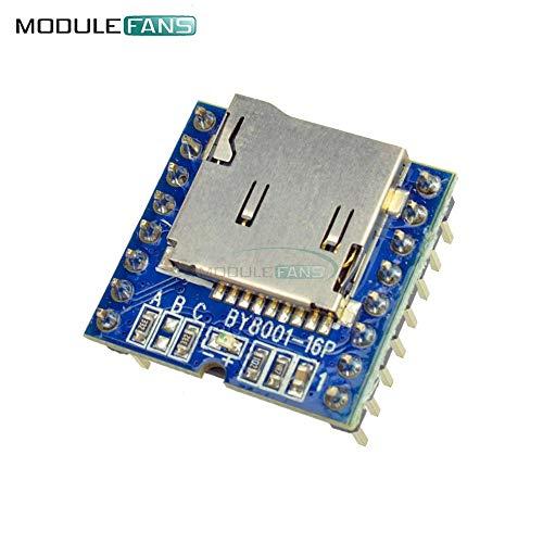 Arduinoオーディオボイスモジュールボード3.3V 5V用TFマイクロSD UディスクBY8001-16P MP3プレーヤー