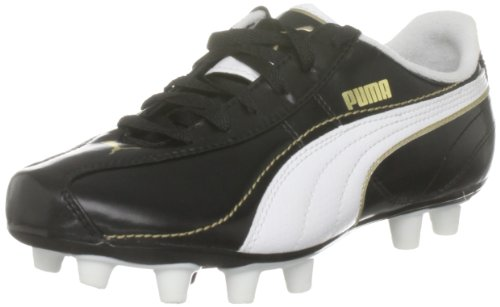 Puma Esito XL i FG Jr 101607 01, Unisex - Kinder Sportschuhe - Fußball, schwarz, (black-white-team gold 01), EU 37, (US 5), (UK 4)