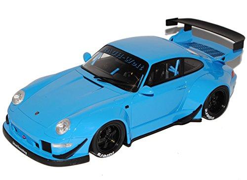 GT Spirit Porsche 911 993 RWB Rauh Welt Blau 1993-1998 ZM 87 1/18 Modell Auto mit individiuellem Wunschkennzeichen