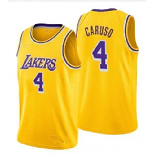 AGLT 2021 NBA Hombre Basketball Jersey,Lakers n#4 Alex Caruso Ropa de Baloncesto,Camisetas...