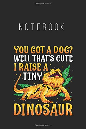 Notebook: Funny Bearded Dragon Pet Reptile Lizard Lover GiftsNotebook College Ruled 6in x 9in x 115 Pages White Paper with Black Cover A Perfect Gift for Baby or Friends