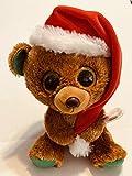 Ty Beanie Boos Nicholas - Brown Holiday Bear med