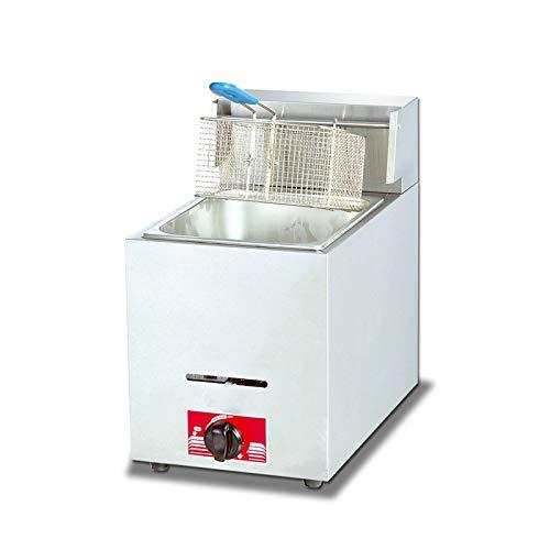 SXYY Freidora, Comercial para El Hogar Papas Fritas Sin Humo De 8 L Freidora De Gas Natural Acero Inoxidable Espesado Control De Temperatura Preciso/Temperatura Constante Automática