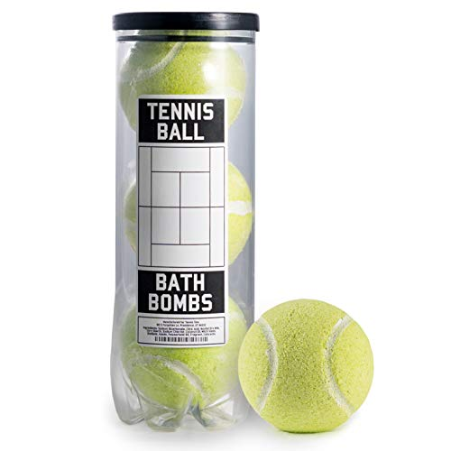 Tennis Ball BATH BOMBS – 3 pack – Large, 6 oz Scented Bath Bomb Fizzies – Great Gift for Players, Women, Girls, Birthdays, Coaches, Opponents, Doubles Partners, High School Tennis, Women Leagues
