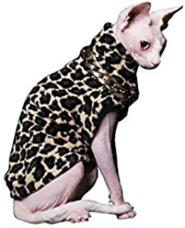 Khemn LUXURY丨HANDMADE丨Luxury Leopard Print Cat Sweater with Thick Cotton-Best for Hairless Cat