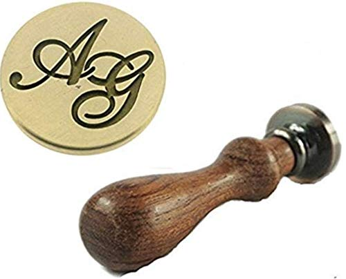 Initials wax seal stamp of two letters Custom two initials with Wreath wax seal stamp kit Christmas gift,party wax seal stamp set,
