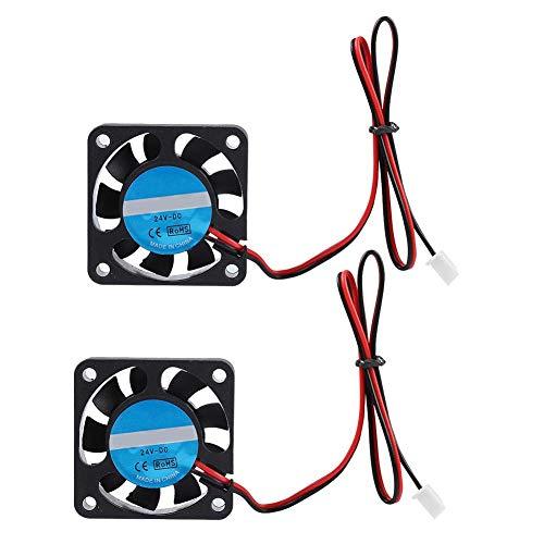 Mugast Ventilador Enfriador de extrusora de 2 Piezas, 32 mm 24 V 7000 RPM 6.7CFM Ventilador de soplado de enfriamiento de extrusora de Viento Grande y silencioso, para Impresora 3D